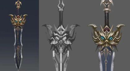 游戏武器魔剑的设定绘画流程教学