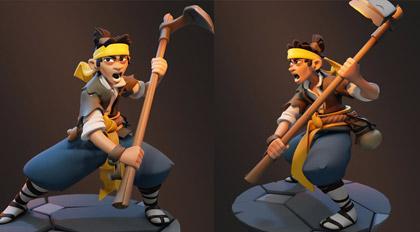 """ZBrush风格化角色""""黄色头巾""""雕刻案例教学"""