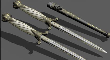 华丽短剑模型教学