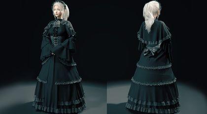 Marvelous Designer维多利亚风格裙子教学