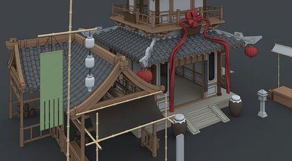 建筑图片建模案例实战教程