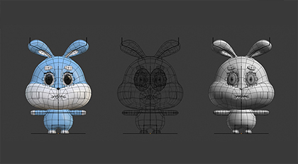 Blender2.8卡通兔子建模绑定案例教程