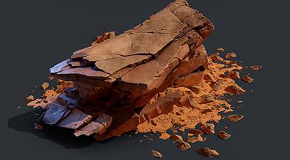 游戏中岩石模型制作全流程高级案例教学
