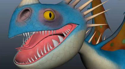 绑定《驯龙高手2》中龙眼睛瞳孔效果