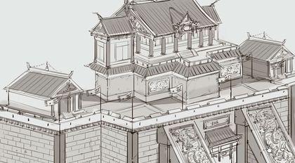 场景美术绘画基础教程 中国建筑篇