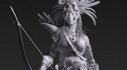 """影视人物角色""""女猎手""""案例教程:模型篇"""