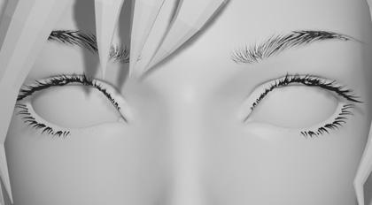Blender2.8眉毛模型快速制作