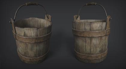 Substance Painter 写实旧水桶绘制案例教学