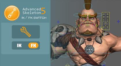 Advanced Skeleton 5 IK-FK无缝切换工具开发及UI制作案例教程