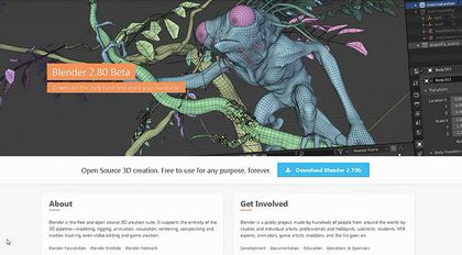 革命性的3D软件Blender2.80快速入门教程