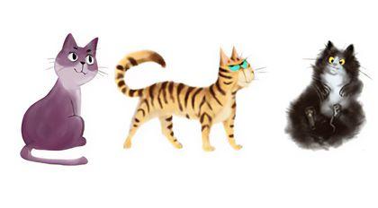 美术绘画基础教学卡通猫的画法