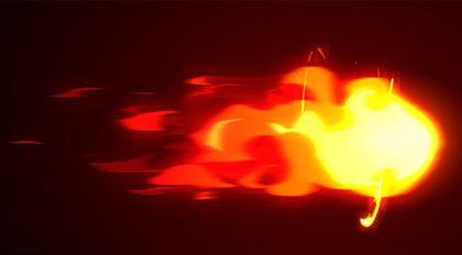 Flash手绘特效火球循环动画案例教程
