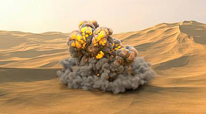 爆炸模拟特效快速流程教学