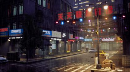 Unreal Engine 4雨夜街道场景动画教学