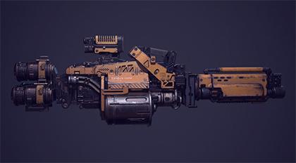 次世代游戏硬表面枪械全流程教学