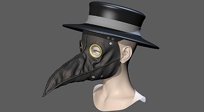 鸟嘴面具模型教学