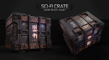 次世代游戏资产Sci-Fi Box制作全流程教学