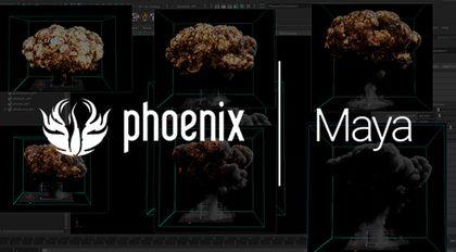 Phoenix FD 3.x for MAYA 2018影视广告流体特效完全教程烟火篇