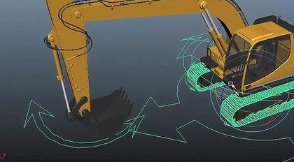 maya刚性绑定-挖掘机模型绑定教程
