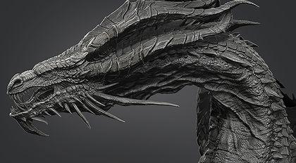 ZBrush远古巨龙高精模型雕刻案例教程