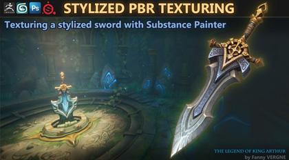 Substance Painter 风格化宝剑手绘贴图制作教学